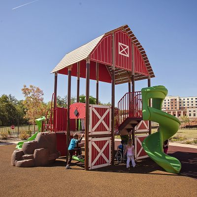 We have a six-step process for installing our custom playgrounds.