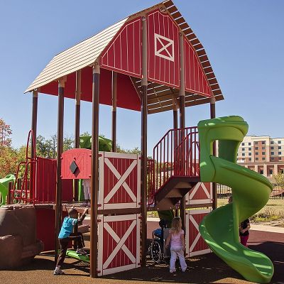 Create custom-lite outdoor playground equipment with theming options.