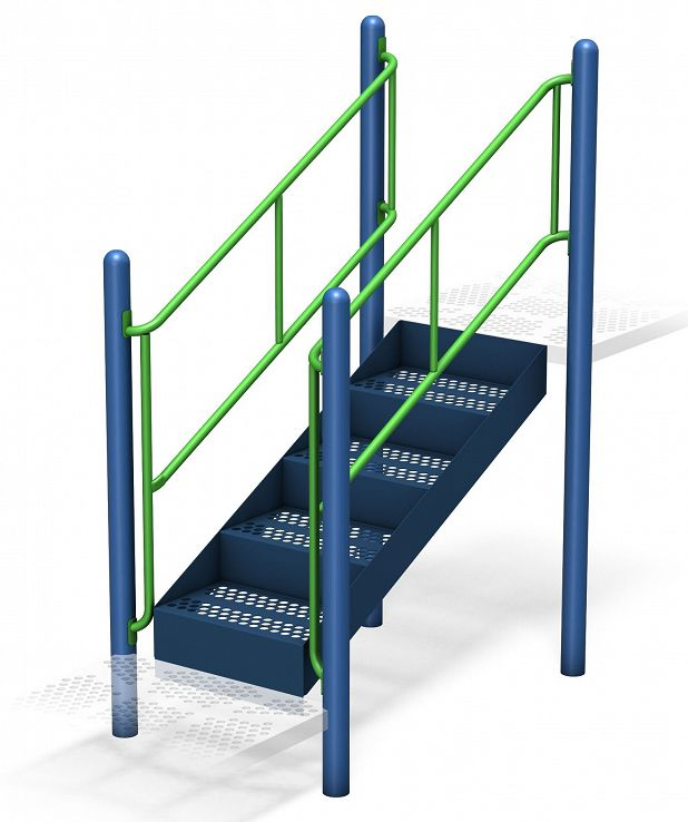 Transfer System with Guardrail