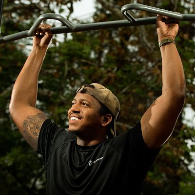 Go behind church playground equipment and add in outdoor fitness equipment to help build an active community.