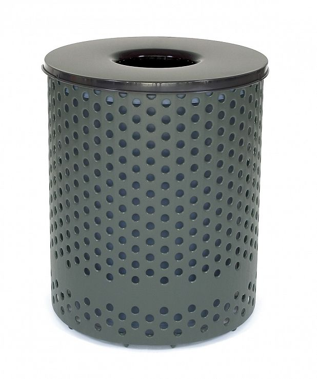 Tuffclad Series Litter Receptacle with Flat Cover
