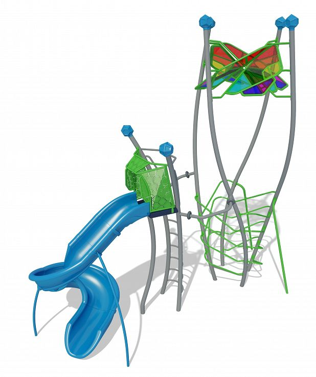 Helix Tower and Spiral Slide