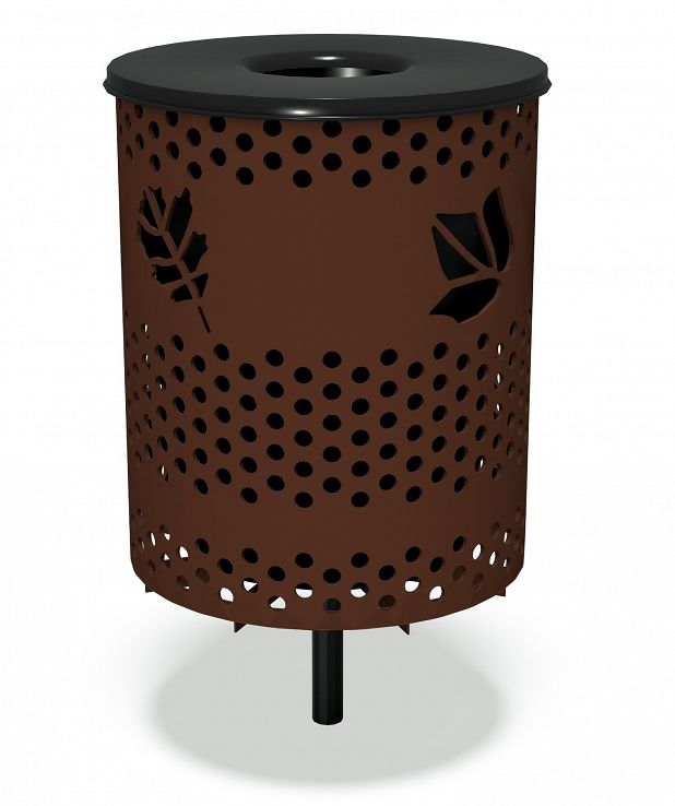 Leaf Trash Receptacle