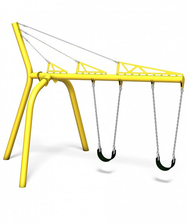 Single Cantilever Swing with Belt Seats