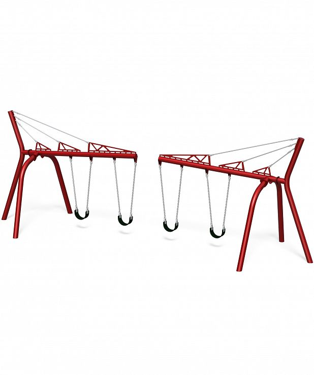 Double Cantilever Swing with Belt Seats