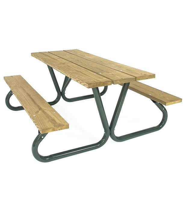 Aluminum Slat Picnic Table