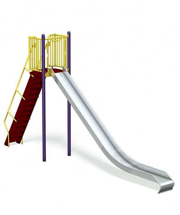 Stainless Steel Metal Playground Slide - 8'