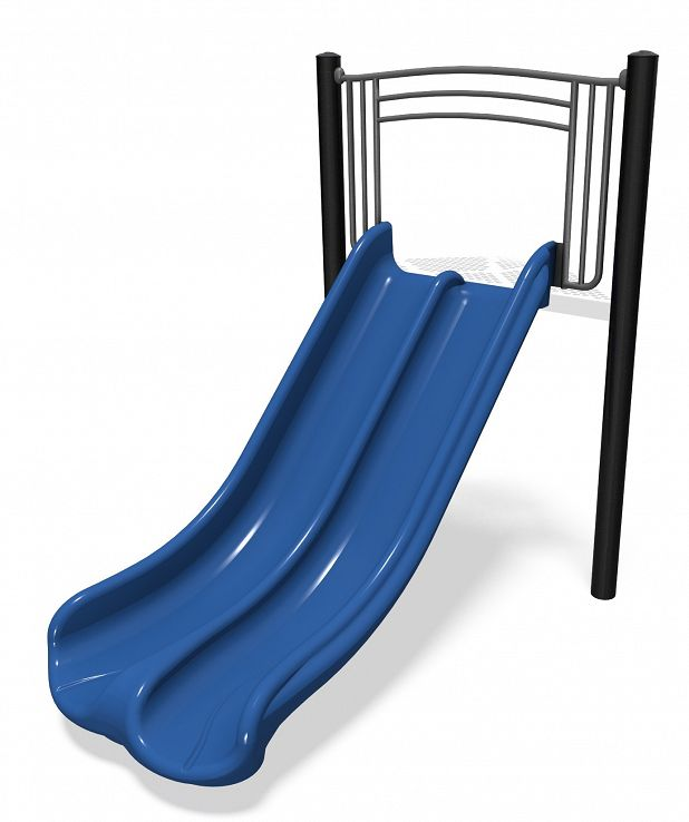 Wide Deck Double Zip Slide
