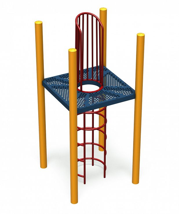 Square Deck with Internal Climber