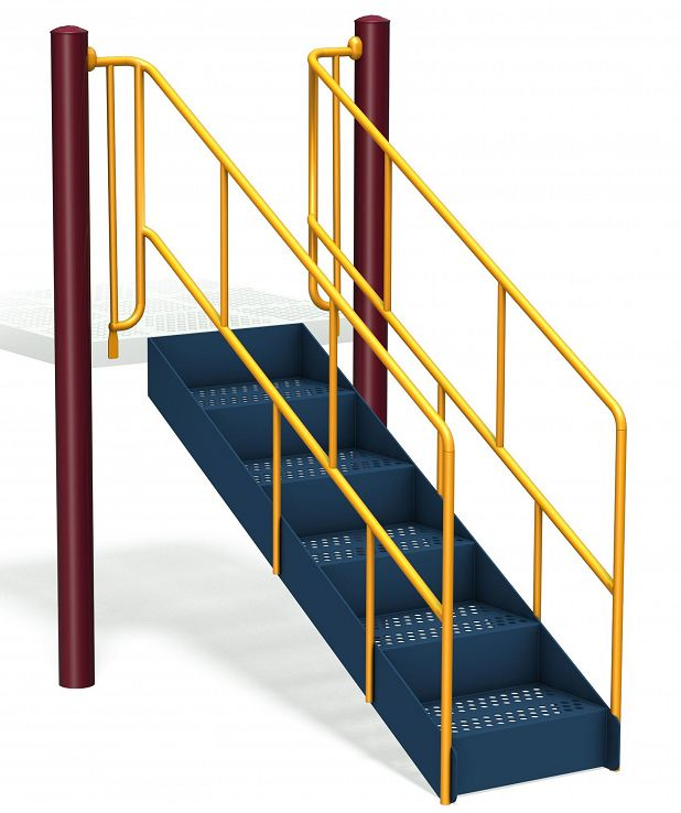 Accessible Steps with Guardrail
