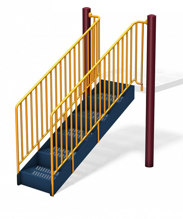 Accessible Steps with Barrier