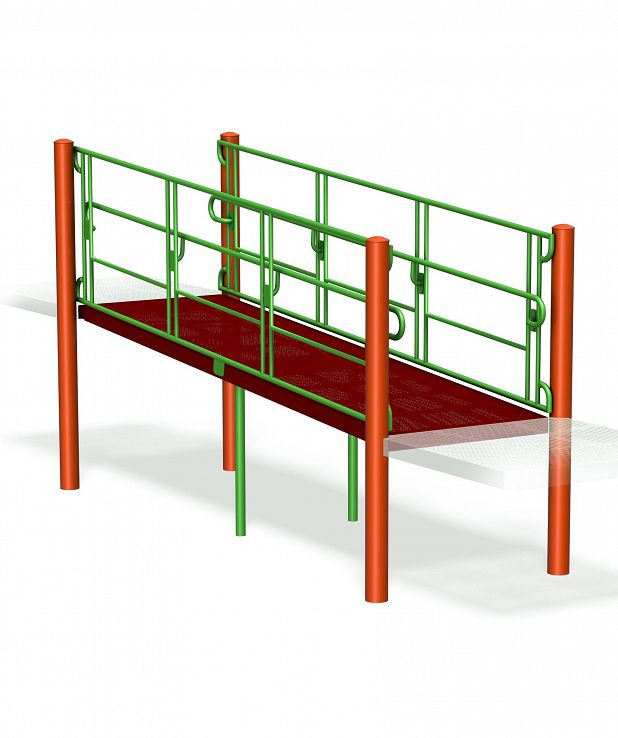 Accessible Ramp Link with Guardail