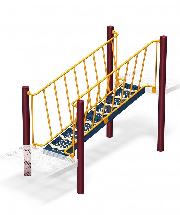 Sloped Funnel Climber - Guardrail