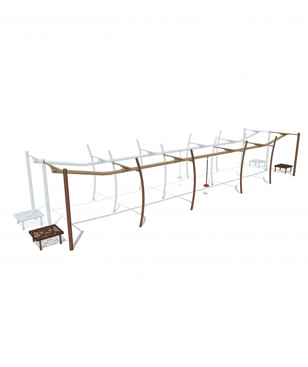 Sky Run Zip Track - Add-A-Track (53') Zip Seat