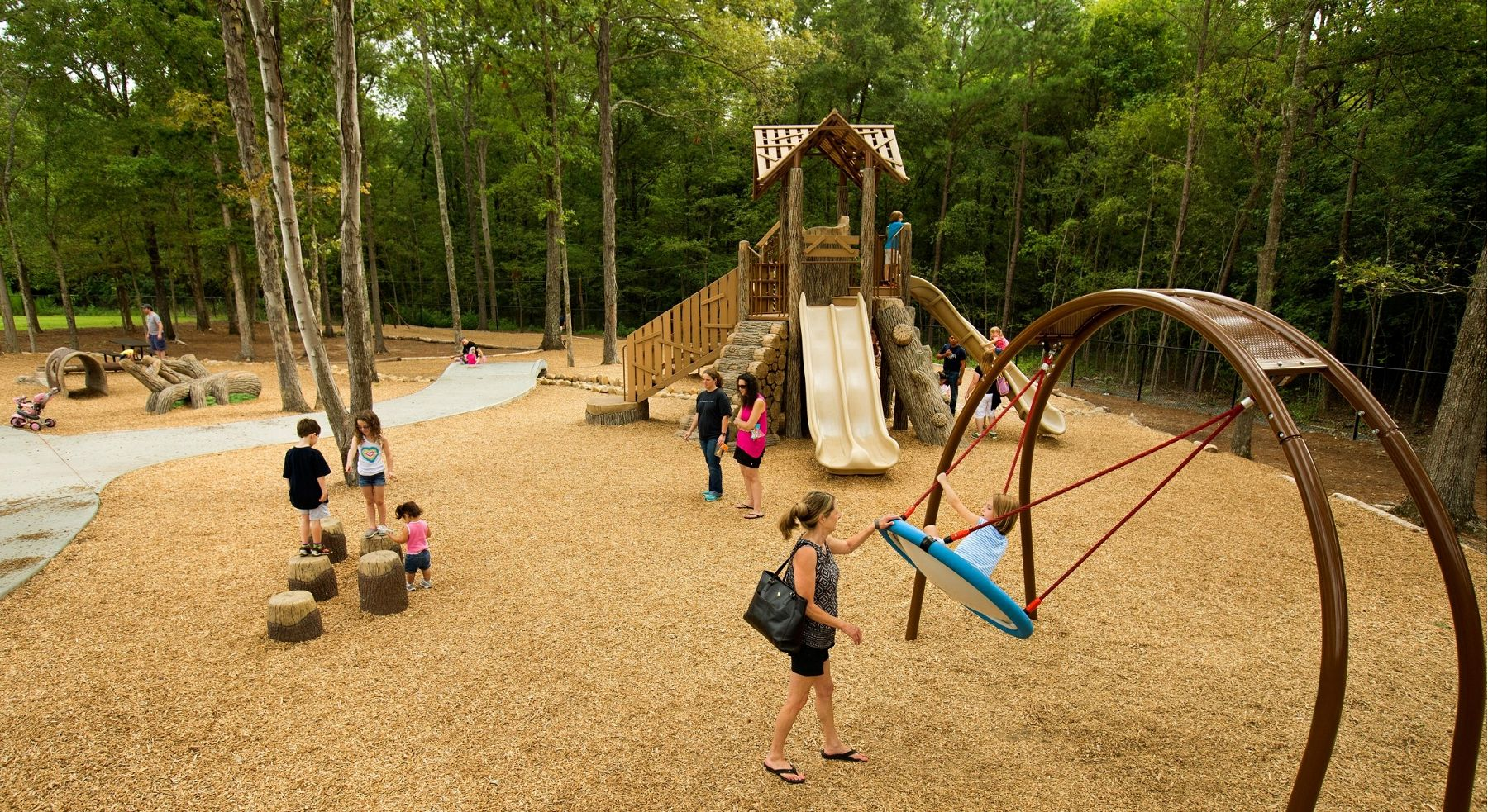 Crooked Creek Park In Nc Custom Nature Themed Playscape