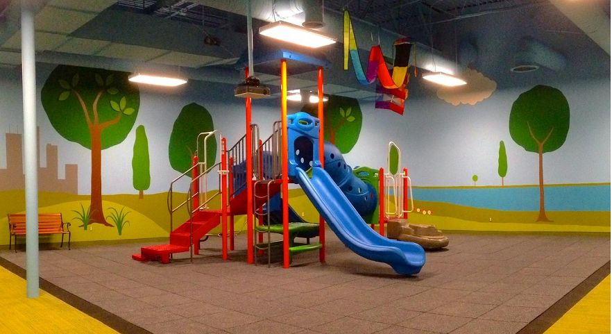 Engedi church indoor playground gametime for Indoor play slide