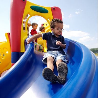 KidTime daycare playground equipment was built with toddlers in mind.
