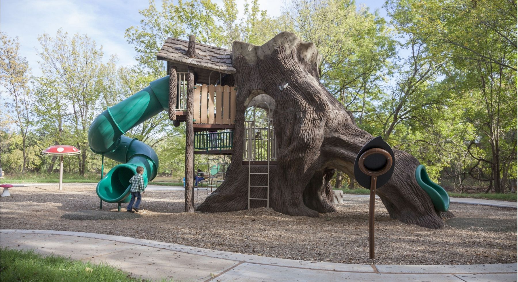 Tremendous Nature Themed Playground With Tube Slide Gametime Download Free Architecture Designs Scobabritishbridgeorg