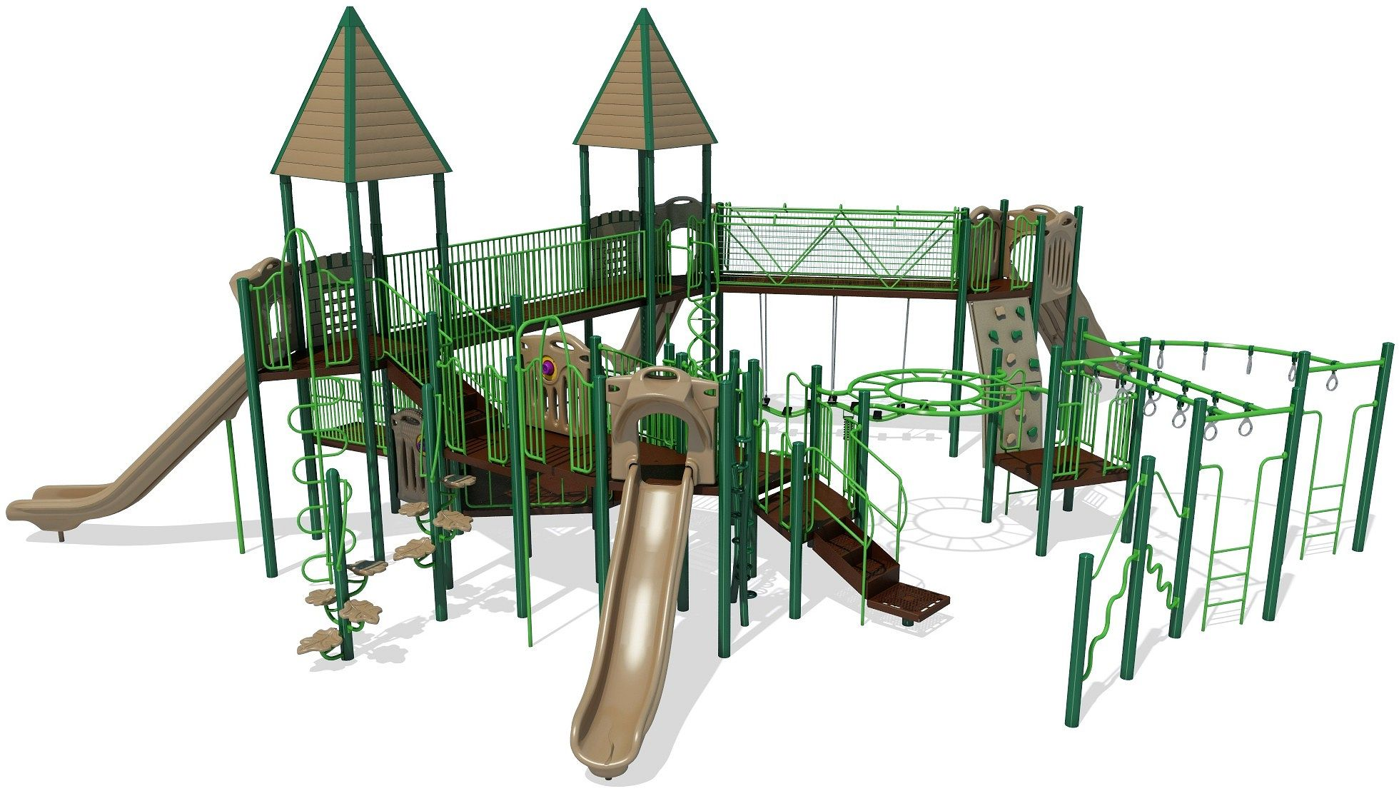 Collins Castle Themed Playground with Slides and Swings