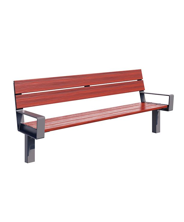 Series 1700 Bench, 6', Batu Wood