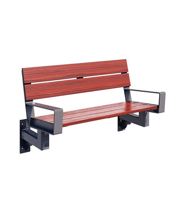 Series 1700 Bench, 6', Wall-Mount