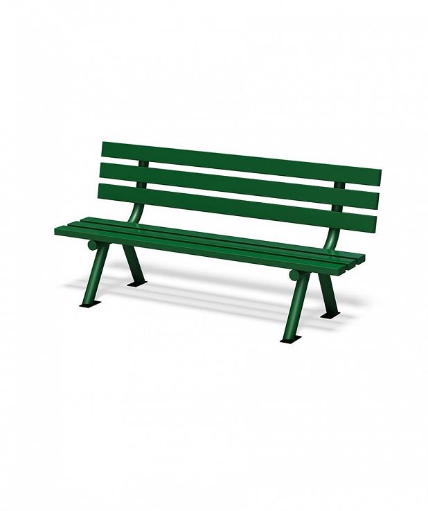 Two Leg, Aluminum Slat Bench