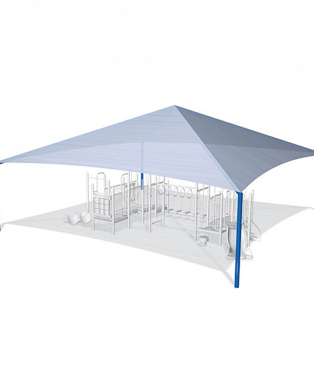 8' Square Peaked Shade - 26' x 26'