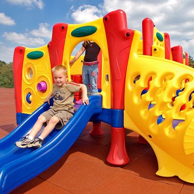 This playground for toddlers is built to last.