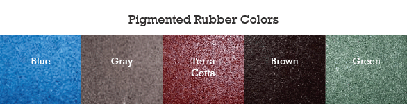 Pigmented Rubber Tile Colors