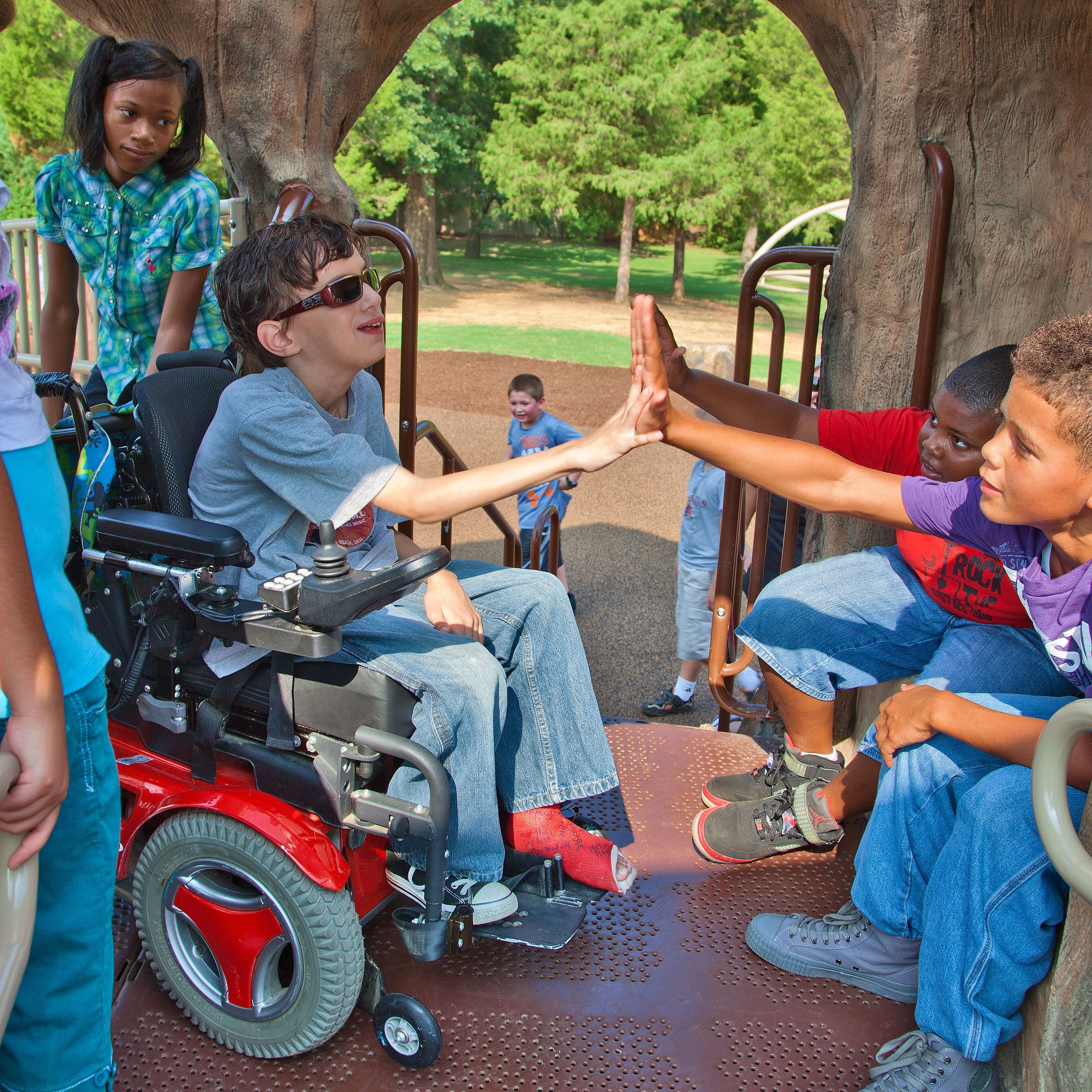 Turn your park playground into a National Demonstration site for inclusive play, nature play, or outdoor fitness.