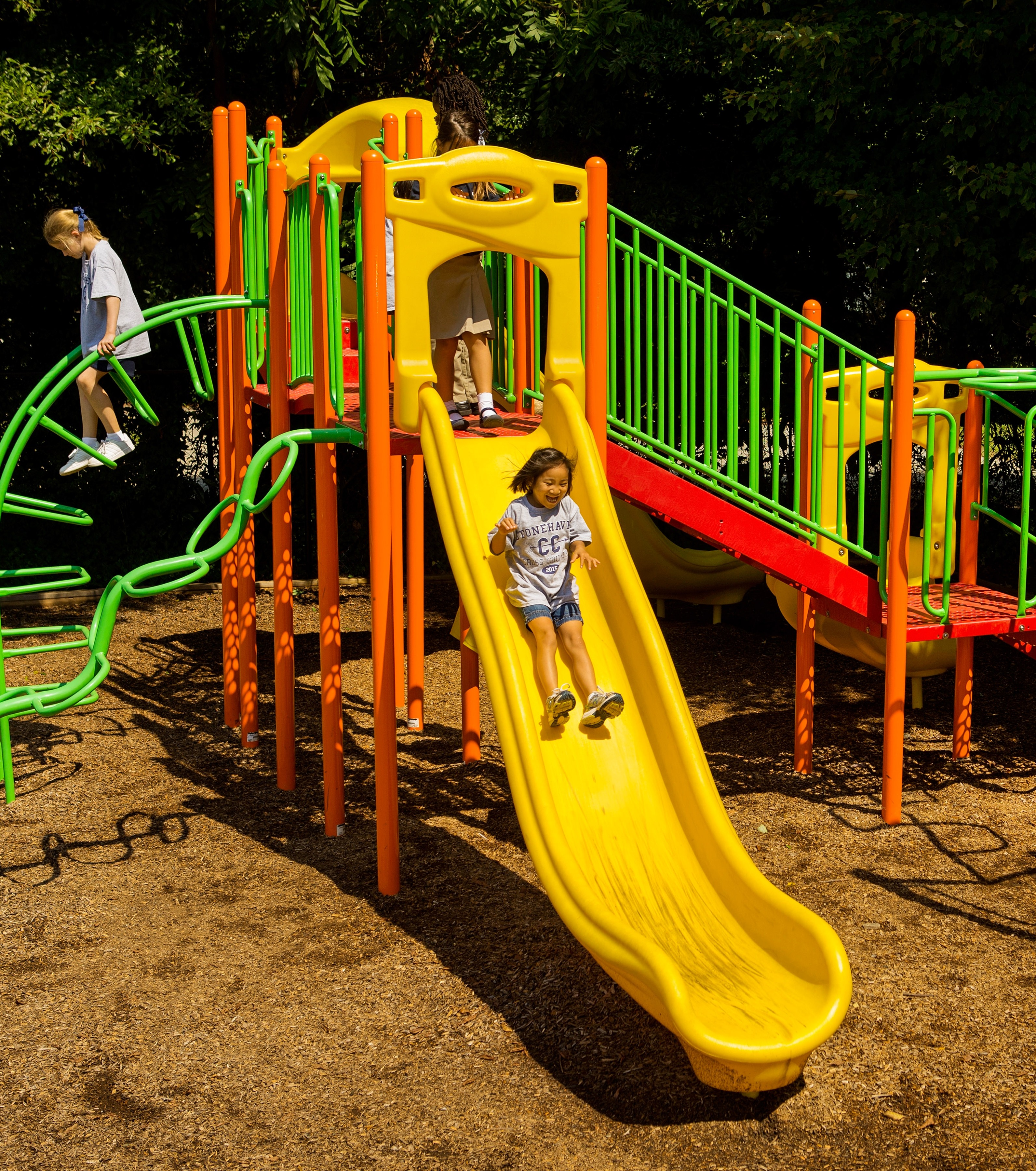 Metal playground slides are a great choice for areas with high vandalism rates.
