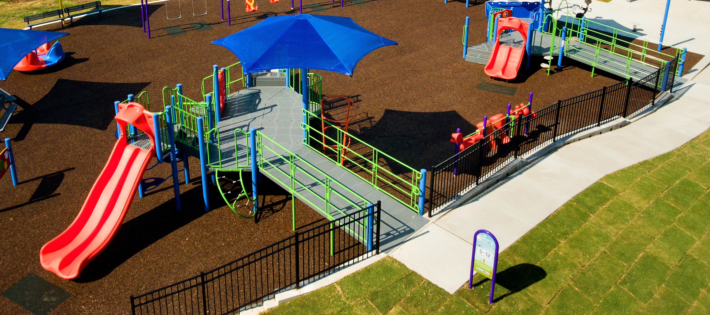 Playground planning 101 location location location gametime for example utilizing berms the level space shelf or raised barrier separating two areas with ramped play spaces is a great way to achieve higher deck baanklon Gallery