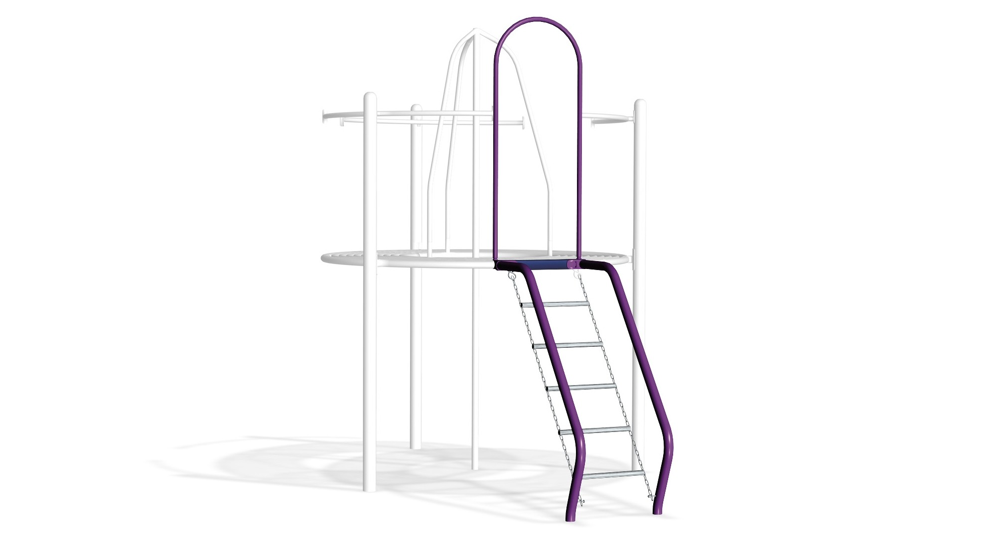 Stainless Steel Chain Net Challenge Station Climber with Rails