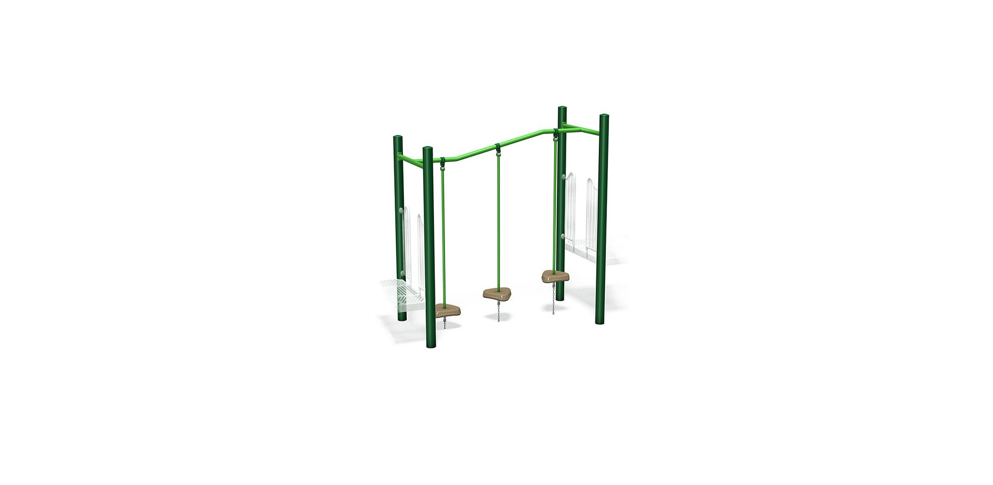 """Inclined Mini Pod Link - 2 Deck Span - 2' & 2' 6"""" Deck Height"""