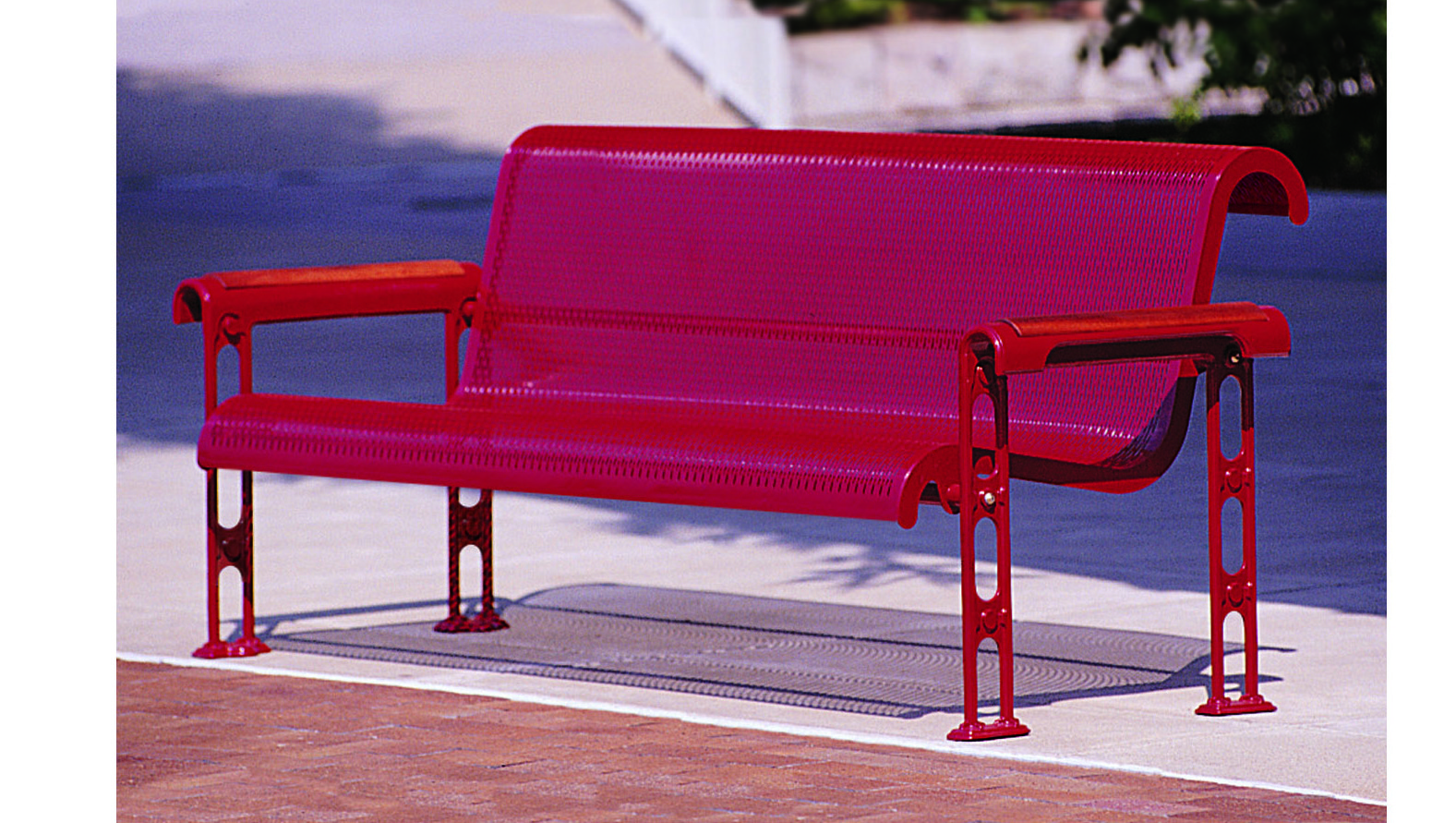 Earleville Series Bench with Armrest