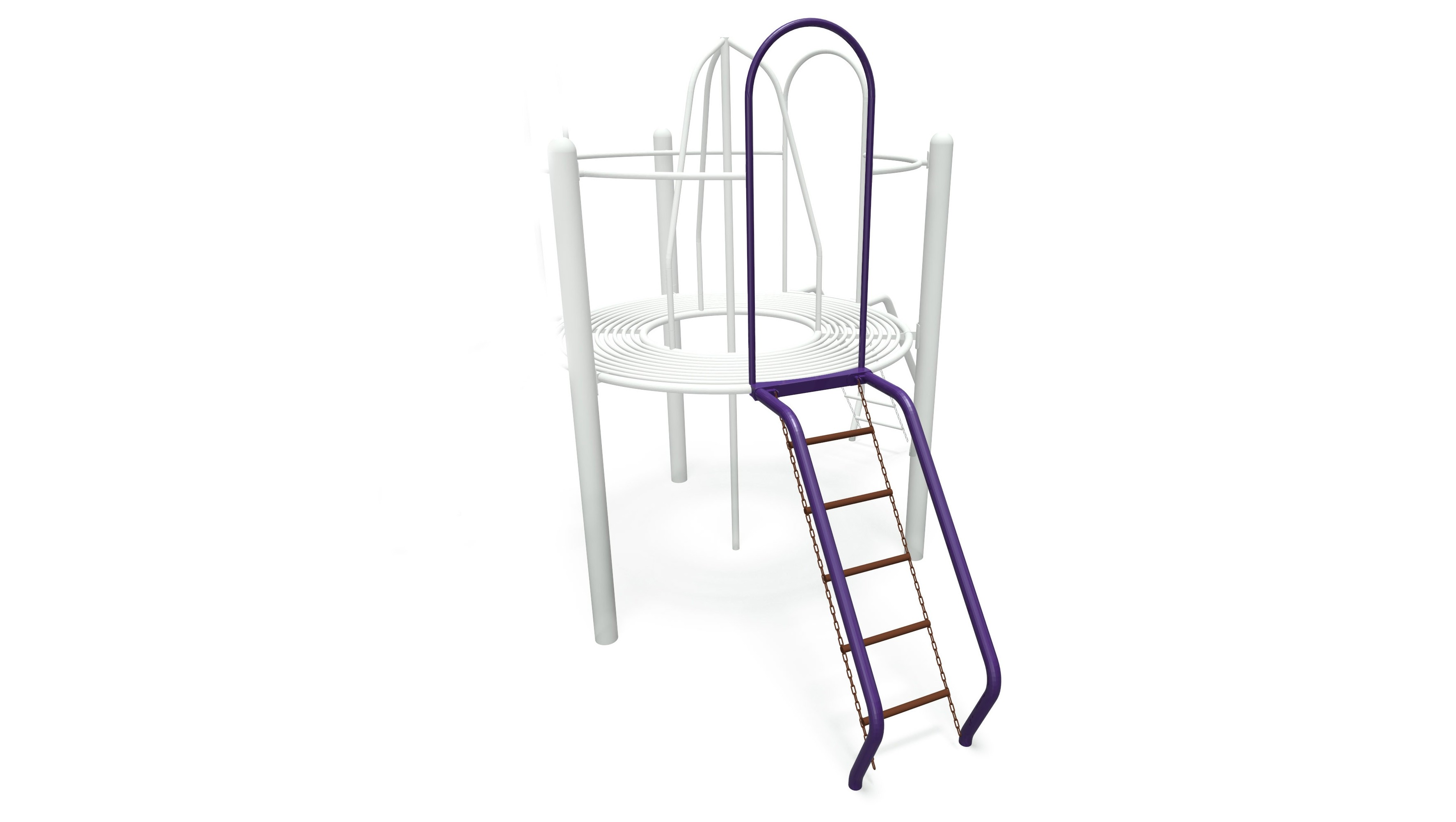 Coated Chain Net Challenge Station Climber with Rails