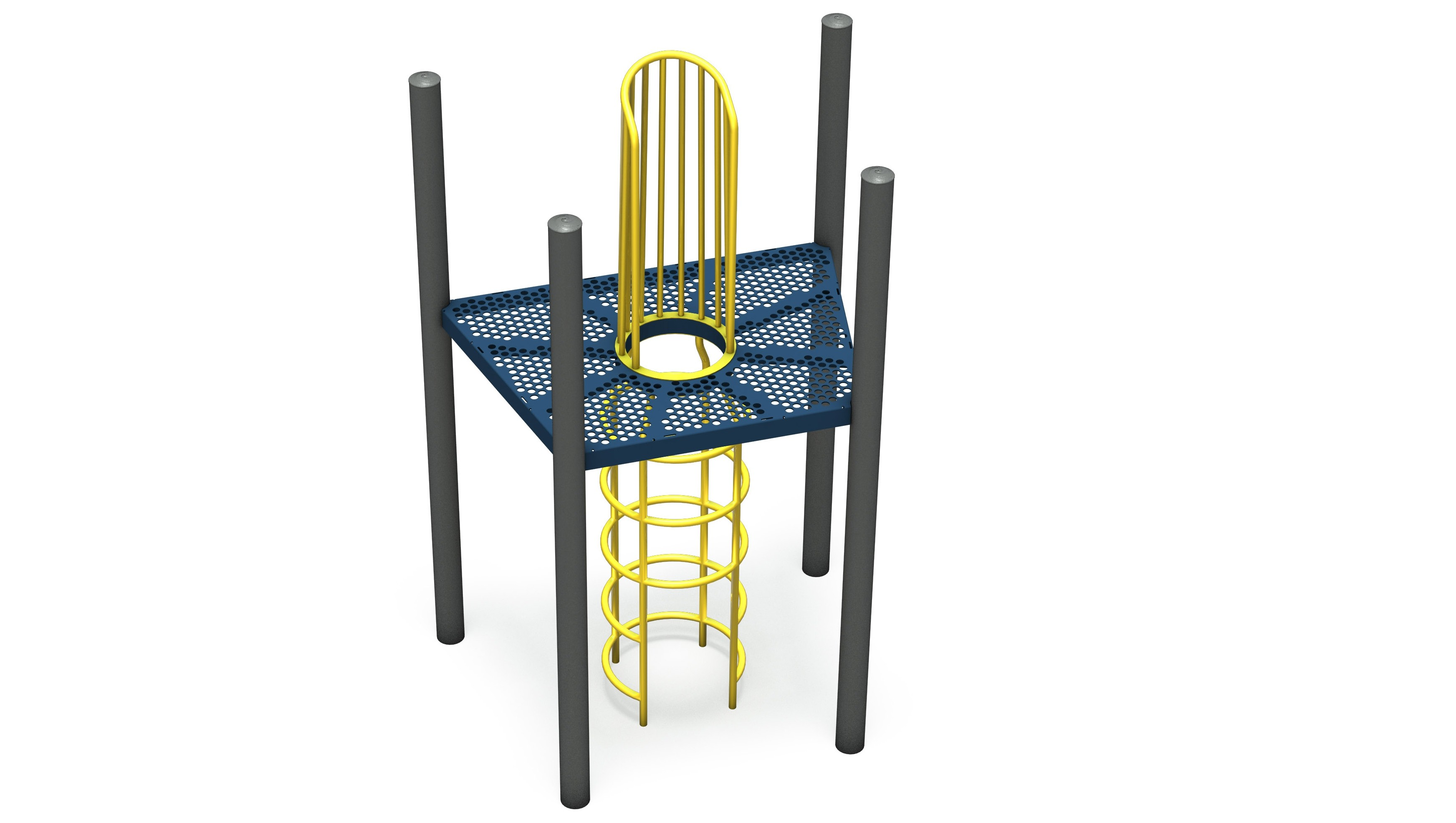 Trapezoid Punched Steel Internal Climber Deck