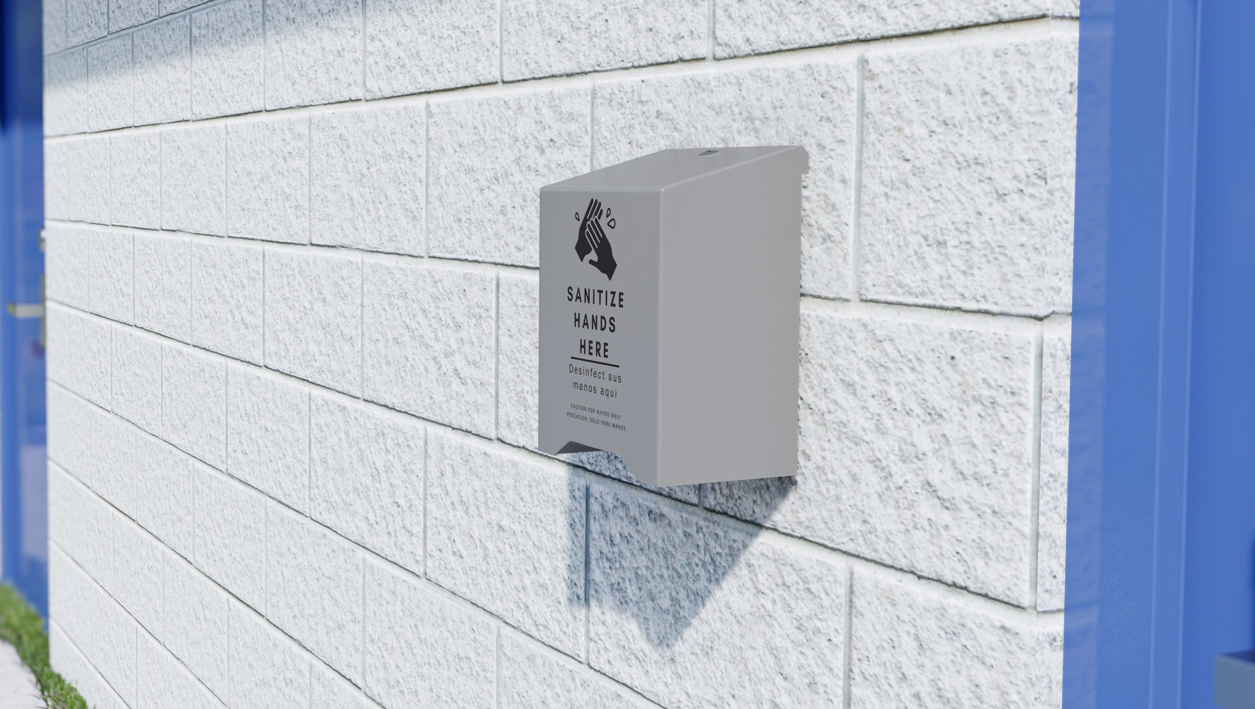 Hand Sanitizer - Lever, Wall Mount