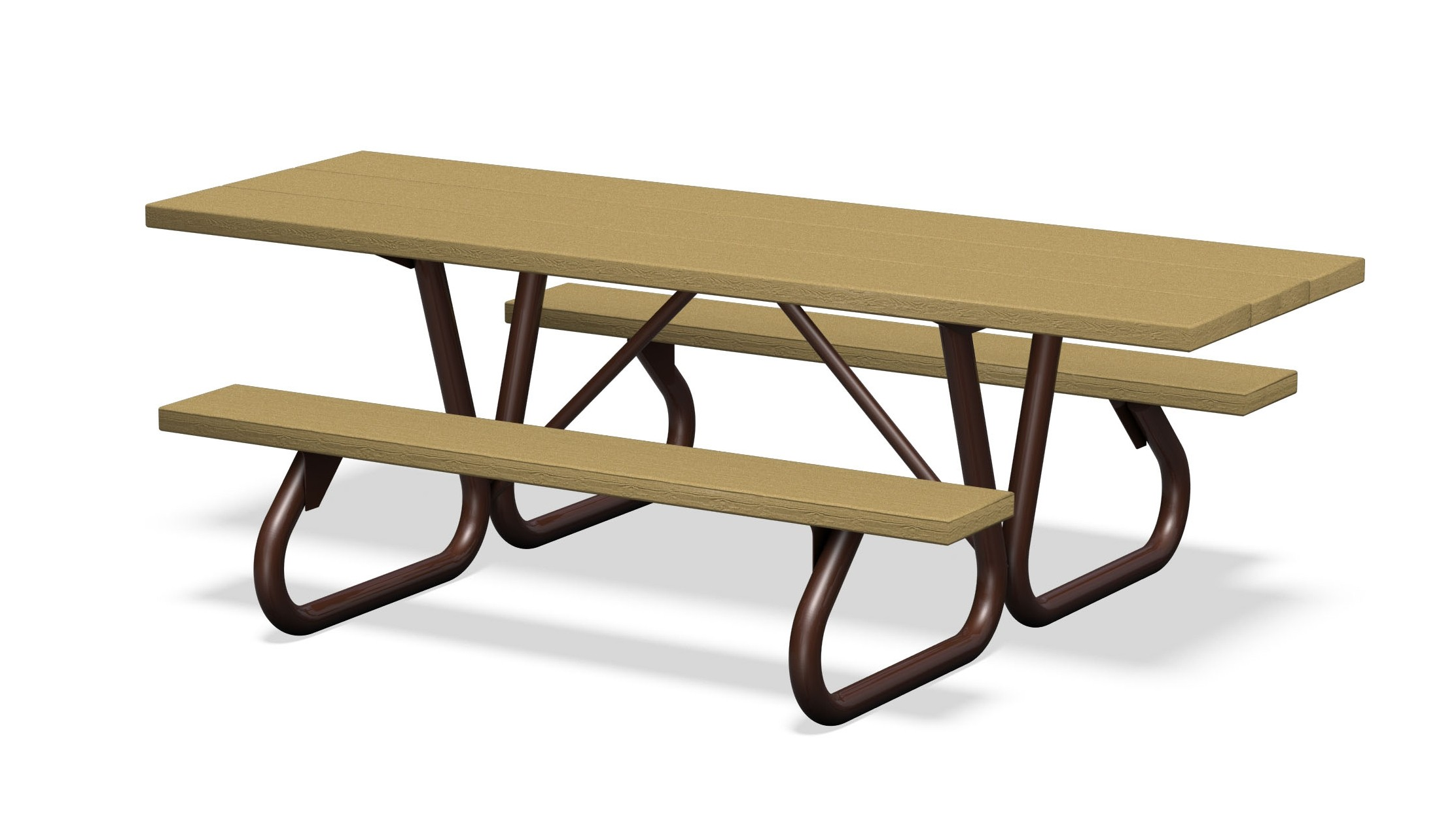 Wheelchair Accessible, Southern Yellow Pine Slat Picnic Table