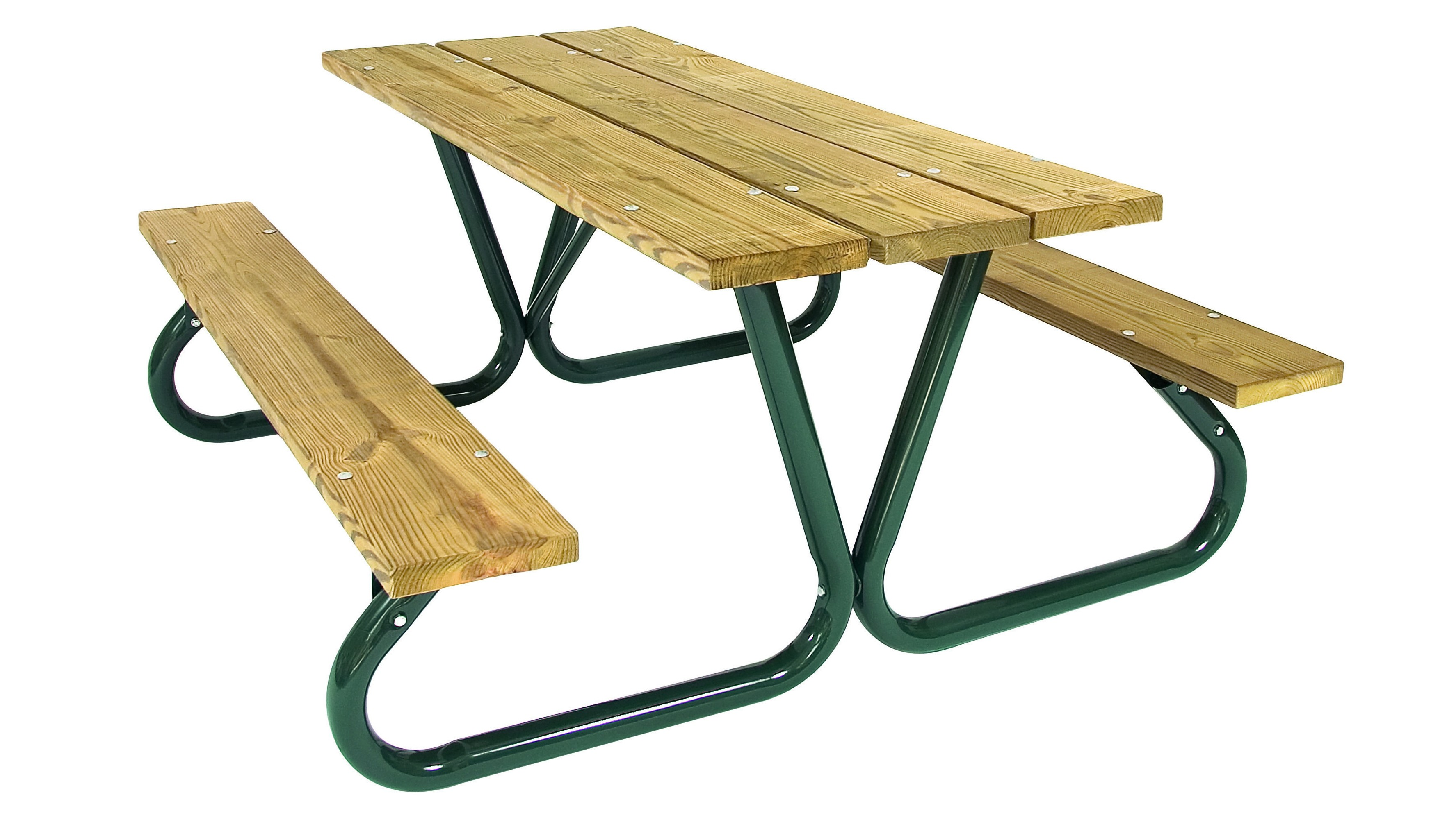 Heavy Duty, Southern Yellow Pine Slat Picnic Table