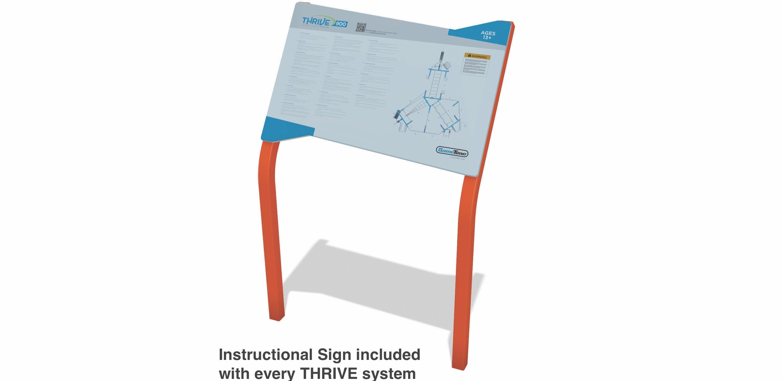 THRIVE 250 Outdoor Fitness Equipment Instructional Sign
