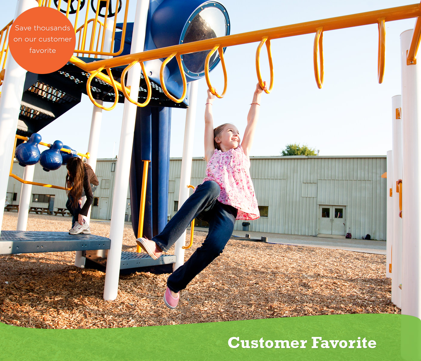 The customer favorite play structure is a great seller.