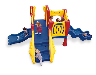 Bold colors, fun activities and durable construction come together in exciting preschool playground equipment.
