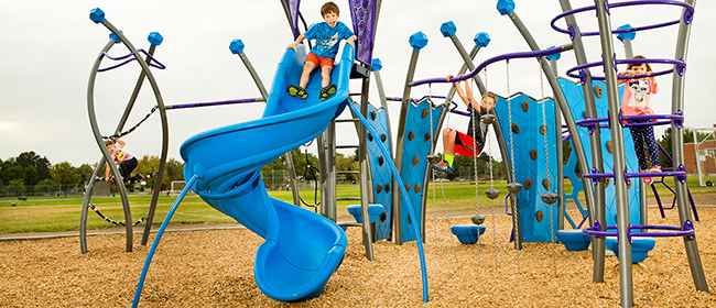 GameTime offers a wide range of commercial playground equipment like playgrounds slides.