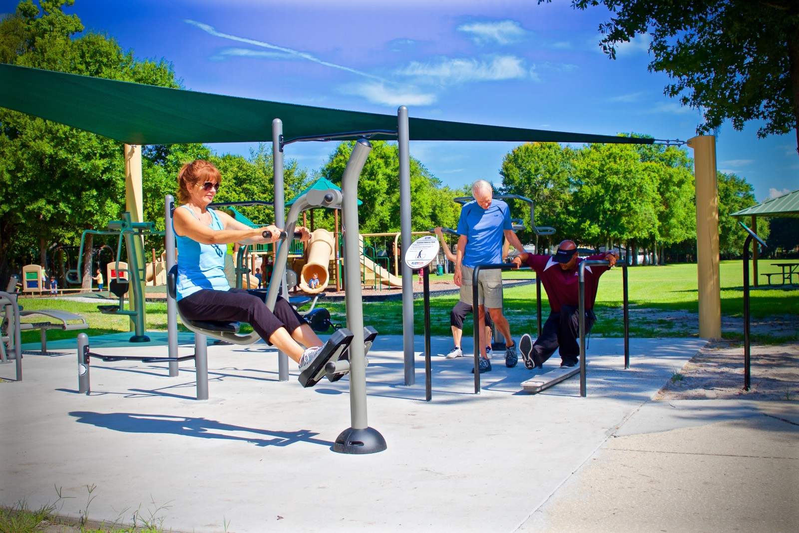 GameTime Fitness Park in Tampa, Florida Serves Adults of All Ages and Abilities