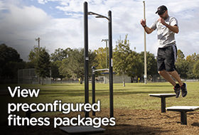 We offer outdoor fitness equipment packages.