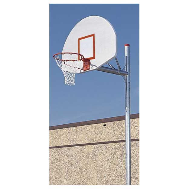 Offset Adjustable Post White Backboard