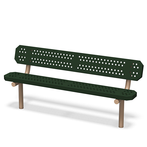 Tuffclad Bench with Back