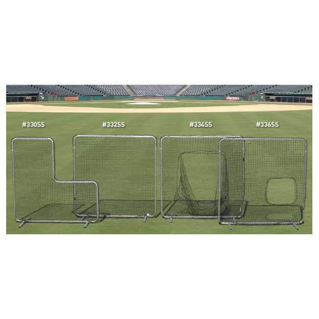 Collegiate Protective L Shaped Pitchers Protector with Net