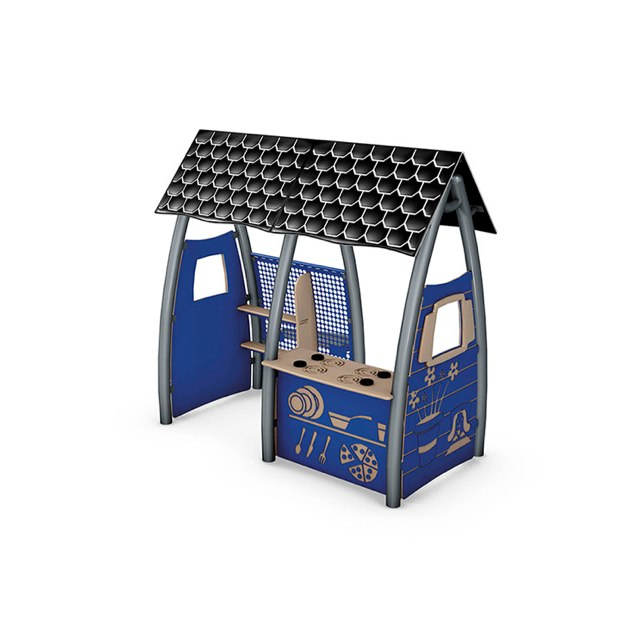 Dramatic Play House - Black and White Roof